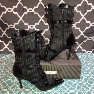 Funtasma Shoes - Funtasma Pin Stripe heeled boots size 8